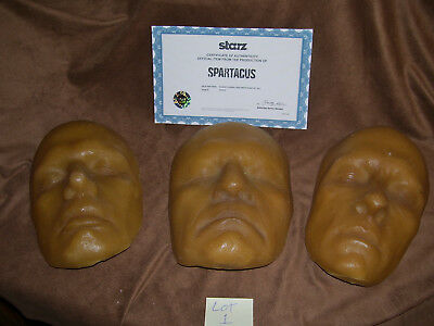 Spartacus TV show Screen used Glaber's Death Mask Set 3 SS2 Starz COA Rare Prop