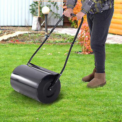 DURHAND Metal Roller Heavy Duty Push/Tow Lawn Roller Filled w/ Water or Sand