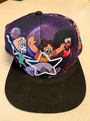 Cartoon Network Steven Universe White Star Sublimation Crown Snapback Hat  NWT! da7712efec1