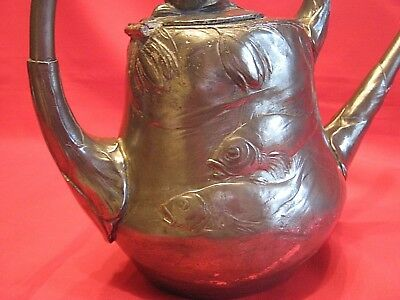 1905 Pewter Swimming Fish & Lily Watering Can Kayserzinn Most Sought After Piece