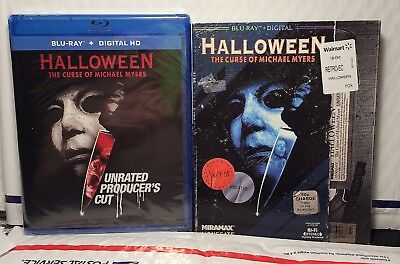 New Halloween 6 Curse Of Michael Myers Blu-Ray+Digital Hd! Unrated W-Vhs Slip
