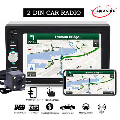 6.2''2Din Car Radio Bluetooth Mirror Link Touch screen Stereo MP5 Player+Camera
