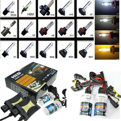 55W HID Headlights Xenon Kit Lights Ballast Conversion H1 H3 H4 H7 H8/H11 HB4