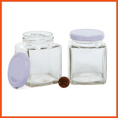 SAMPLE PACK OF mini glass jars - 6 sizes with lids - Perfect
