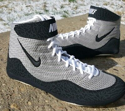 114bbf5ad75 RARE BRAND NEW Grey Nike Inflict 3 Wrestling Shoes Size 10.5 ...