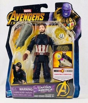 Marvel Avengers Infinity War Captain America Action Figure With Infinity Stone