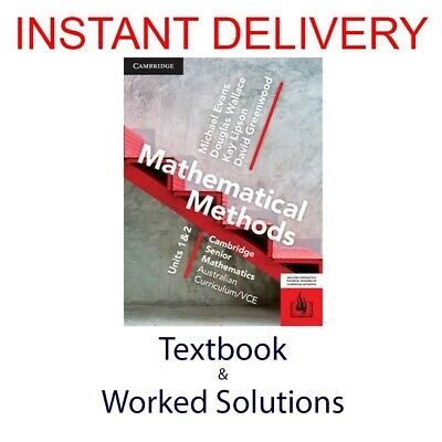 [PDF Textbook + Worked Solutions] CSM VCE Mathematical Methods Units 1/2