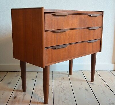 Danish Mid-Century 3-Drawer Teak Chest. 1950s/60's.