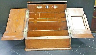 Antique Secretary Organizer Wood Desk Top Drawer 19th Century