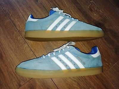 Mens Adidas 350 Casual Trainers UK Size 12 UK in Sky Blue. (Vintage)