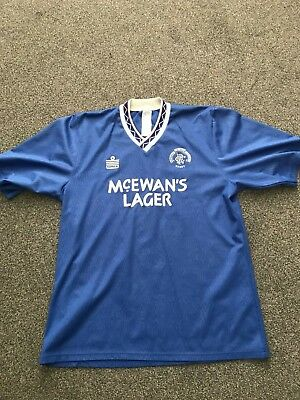 Glasgow Rangers Admiral 1990 92 Blue Home Men's Shirt Used Size L Large Vintage