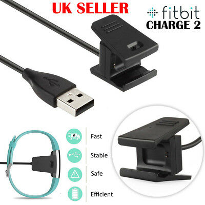 UK USB Cable Charger Lead Charging for Fitbit CHARGE 2 Fitness Tracker Wristband