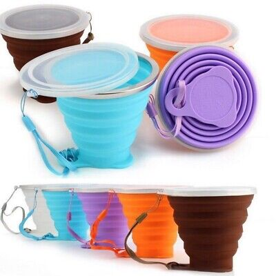 270 ml Collapsible Mug Outdoor Travel Camping Drinking Water Foldable Cup