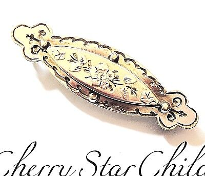 Vintage Victorian solid 9k gold fronted love friendship brooch