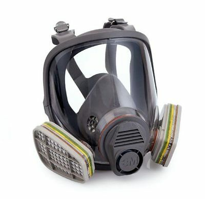 3M 6900 Large Full Face Mask Respirator Dust 2K Car Paint Spray Re Use Usable