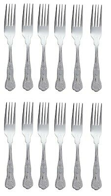 Kings Pattern Dinner Forks Boxed Set Of 12 Quality Design Large Table Cutlery 1B