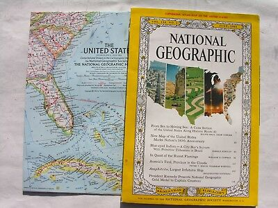 NATIONAL GEOGRAPHIC-JULY 1961-ROUTE 40. - £5.75 | PicClick UK