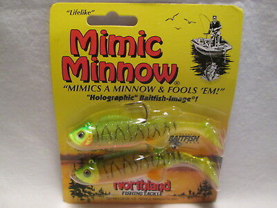 "2 Packs Northland 3 1//2/"" Mimic Minnow Tails Soft Fishing Bait Lures Fire Tiger"