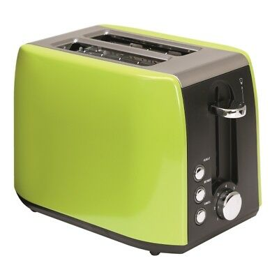 Quest 2 Slice Low Wattage Stainless Steel Toaster Green