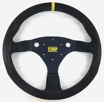 Genuine OMP Uno 320. Black suede steering wheel. 2010 model. Race Rally etc. 9E
