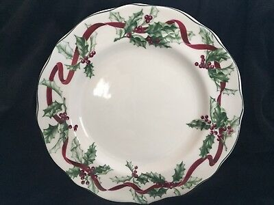 Charter Club Winter Garland Christmas Salad/Luncheon Plate, from 1998, Retired