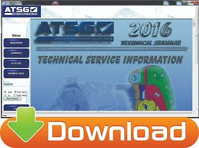 ATSG Automatic Transmission Service Group Software 2016-2017