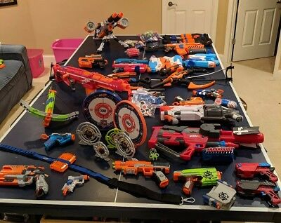 Huge Nerf gun lot adult owned all in great condition!