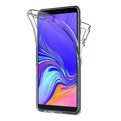 Cover Per Samsung A7 / A9 2018 Full Body 360 Fronte Retro Custodia Trasparente