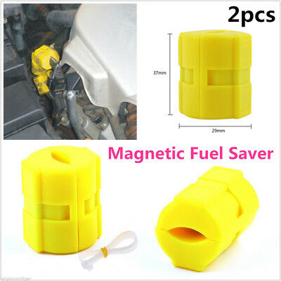 2x New Magnetic Fuel Saver For Vehicle Gas Universal Reduce Emission Durable YU