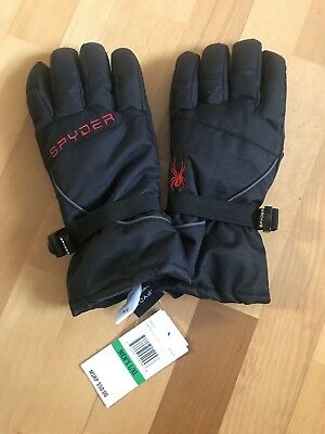 6320191b8 New SPYDER Men's Sz L / XL Snowboard Ski Insulated Gloves Black NWT