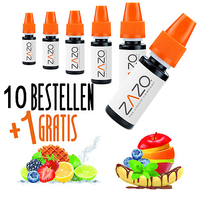 ZAZO Liquid für E-Zigarette E-Liquid Made in Germany alle Sorten 10ml