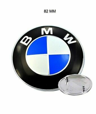 BMW 82mm OEM BONNET/HOOD Roundel Emblem Badge E46 E36 E90 E60 E83 E92 M3 M5 (Fit