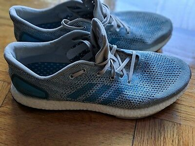 dcef6bf94 Adidas PureBoost DPR running shoes Men s Size 11 Grey Light Blue CG4097  BOOST