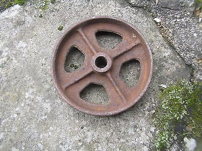 "Antique Cast Iron Industrial Cart Wheel, 5"" Dia,1 3/8 "" Wide Steampunk (O)"