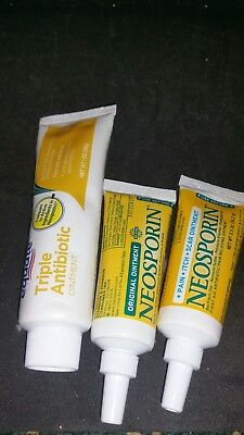 LOT OF 2** NEOSPORIN Original First Aid Ointment Cream 0 5 oz EXP 9
