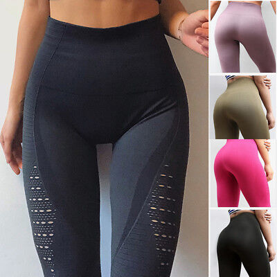 Women Seamless Yoga Pants Fitness Leggings Running Gym Exercise Sports Trousers