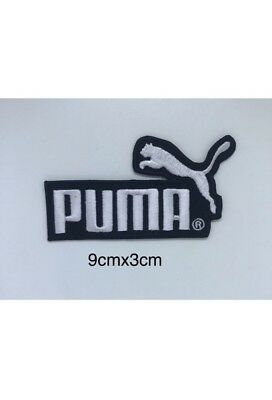 Puma Sports Brand patch white On Black iron/sew on Embroidery Patch