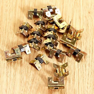 4/20pcs Golden Mini Spring Hinges Cabinet Wood Gift Jewelry Box Chest Decorative