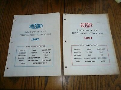 1964 67 Chevrolet Ford Dodge White GMC DuPont Duco-Dulux Truck Paint Chips 2 Yrs