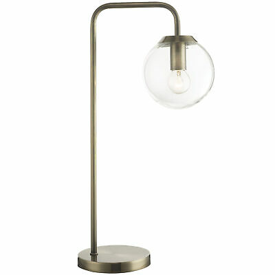 NEW Clear Newton Contemporary Glass Table Lamp - Oriel,Lamps