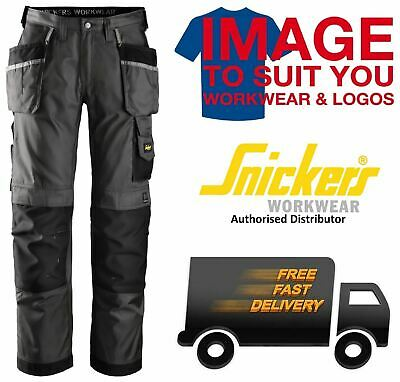 Snickers 3212 Work Trousers (Holster & Knee Pad Pockets) Black/grey