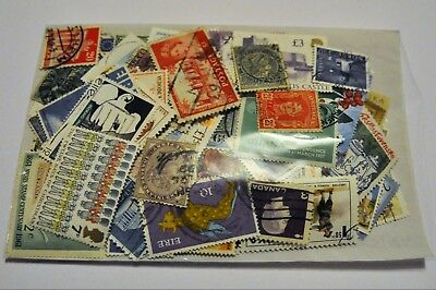 100 World Stamps All Different and Off Paper Used and Mint With 10% GB