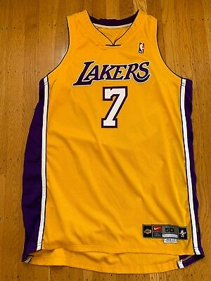 Game Worn used Lakers Jr Rider 2000 2001 Home Autographed Jersey 4cf5bbea4