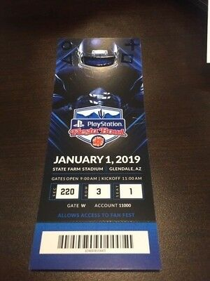 2019 Fiesta Bowl MINT Season Ticket 1/1/19 NCAA Football Stub LSU Tigers UCF