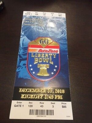 2018 Liberty Bowl MINT Season Ticket 12/31/18 NCAA Football Stub Missouri OKST