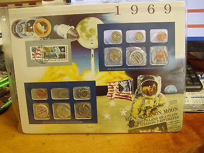 1969 US Uncirculated Coin Mint Sets Collection,Postal Commemorative Society,P&D