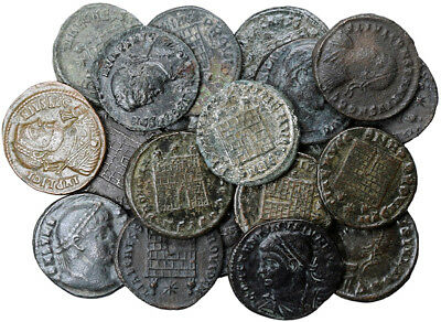 FORVM Lot of 20 VF Late Roman Empire Coins with Campgate Reverses