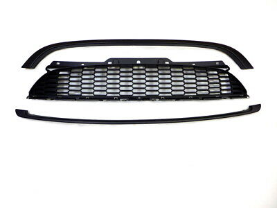 Mesh Front Grille Set for Mini Cooper & One R55 R56 R57 Matte Black painted
