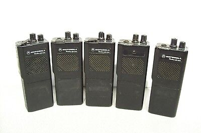 Lot of 5 Motorola GP300 HandHeld Radios 16Ch and 2Ch UHF 438-474MHZ 4W
