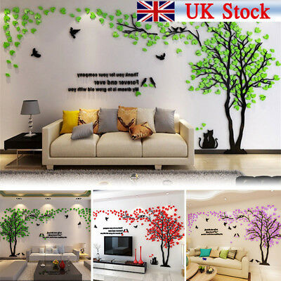 3D Large Tree Arcylic Wall Stickers Room Decal Mural Art DIY Home Wall Decor